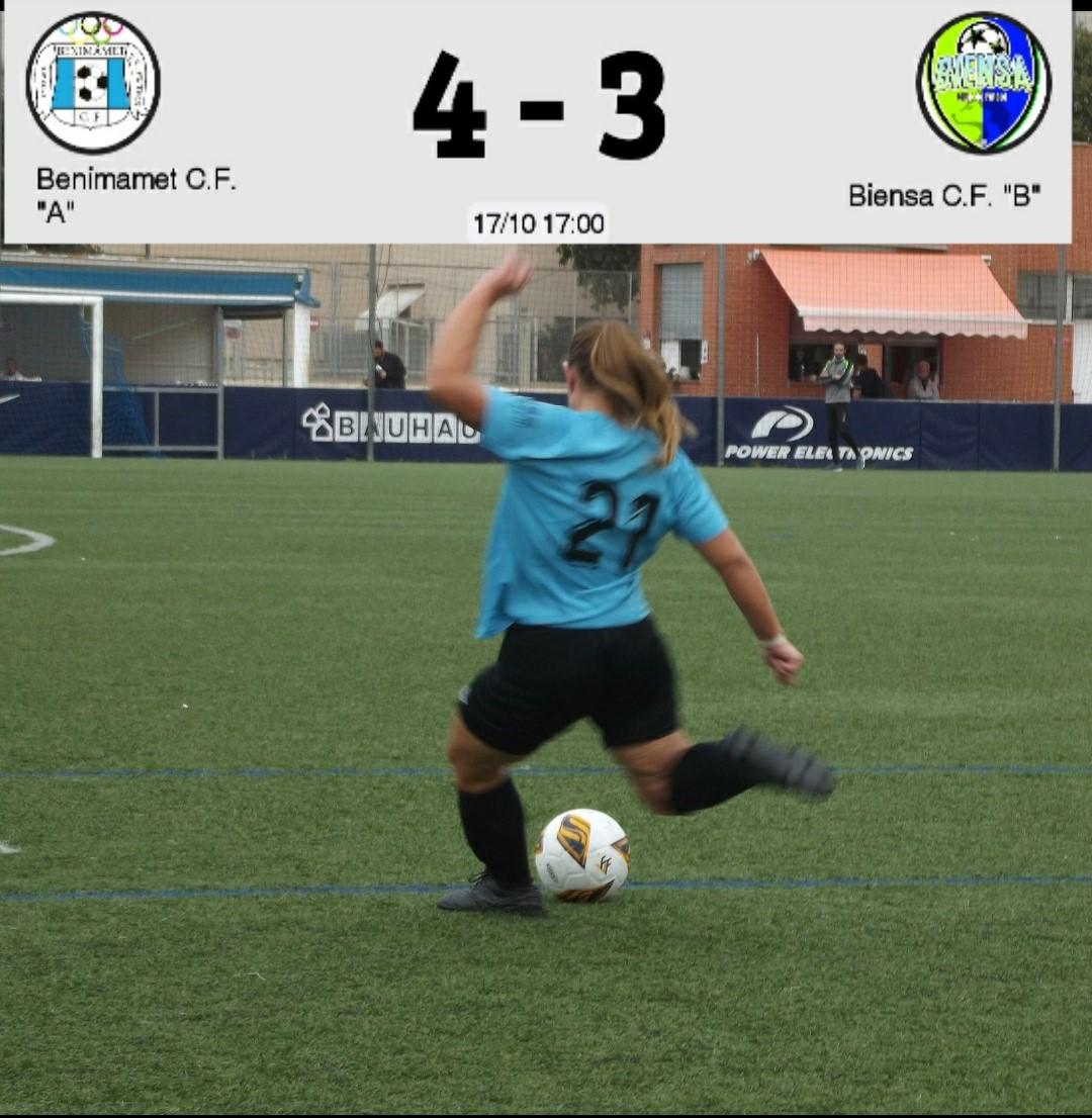 Victoria para el Benimàmet ante el Biensa, en partido igualado hasta el último minuto